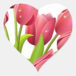 Tulips Heart Stickers