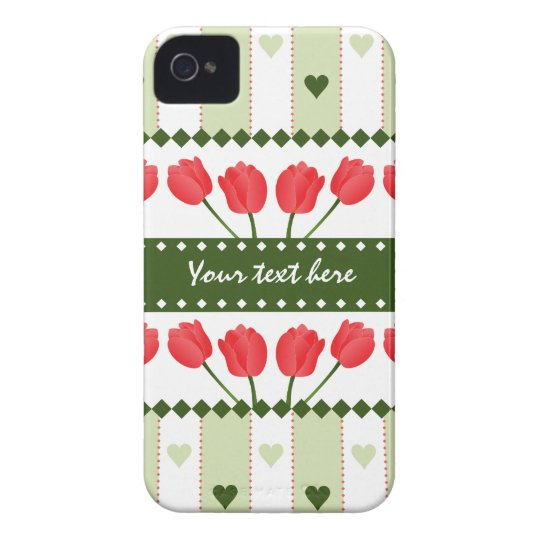 Tulips & Hearts iPhone 4 Case-Mate