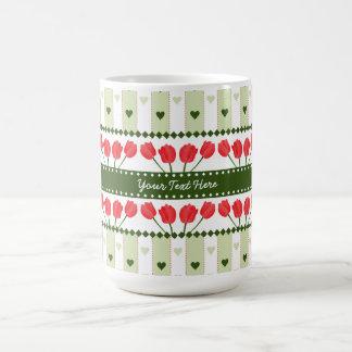 Tulips & Hearts mug, customize Coffee Mug
