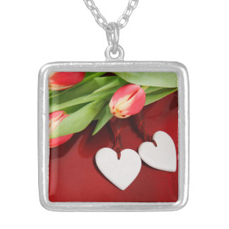 Tulips & Hearts necklace