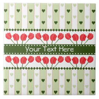 Tulips & Hearts tile, customize Tile