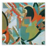 Tulips in Abstract Posters