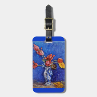 Tulips in Blue Vase 1895 Luggage Tag
