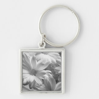 Tulips in Keukenhof Gardens, Holland. 2 Silver-Colored Square Key Ring