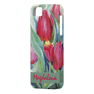 Tulips in Red and Pink iPhone 5 Covers