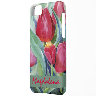 Tulips in Red and Pink iPhone 5C Case