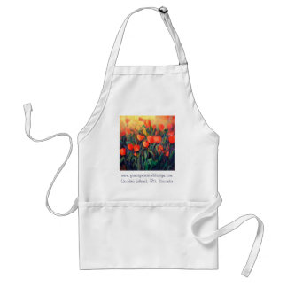 Tulips in Red Standard Apron