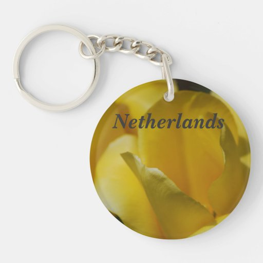 Tulips in the Netherlands Acrylic Keychain