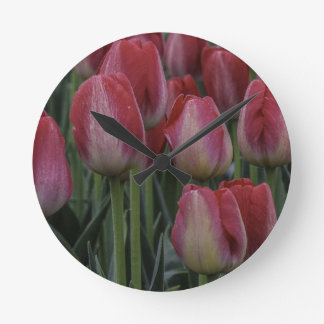 Tulips in the Spring Wall Clock