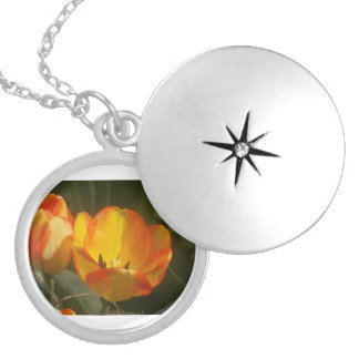 Tulips In The Sun Locket Necklace