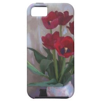 Tulips in vase iPhone 5 case