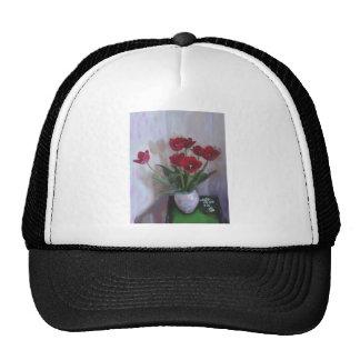 Tulips in vase hats