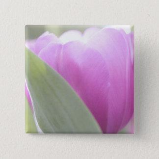 Tulips, Keukenhoff Gardens, Netherlands. 2 15 Cm Square Badge