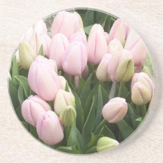 Tulips Lite Pink Coaster