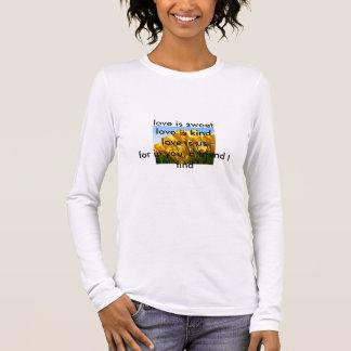 Tulips, love is sweetlove is kindlove is us for... long sleeve T-Shirt