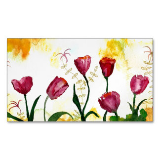 Tulips. Magnetic Business Card