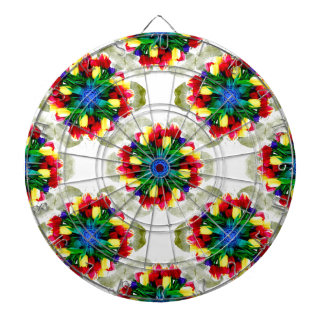 Tulips Mandala Design Dartboard