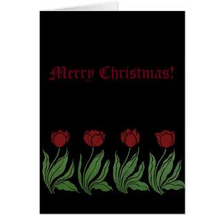 Tulips Merry Christmas Card