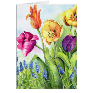 Tulips notecards card