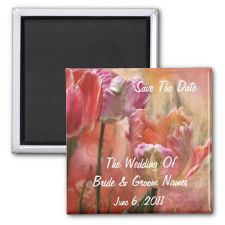 Tulips Of Love Save-The-Date Wedding Magnet