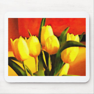 Tulips (Oil Paint Style) Mouse Pad