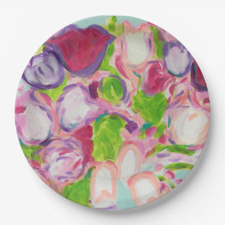 Tulips Overflowing 9 Inch Paper Plate