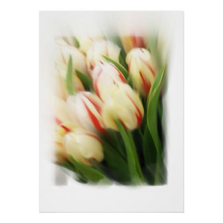 """""""Tulips"""" painting on canvas Poster"""