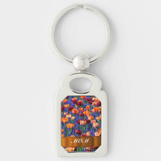 Tulips personalized mom key ring