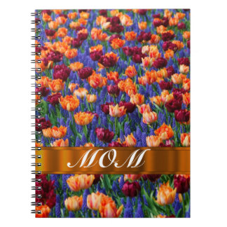 Tulips personalized mom notebook