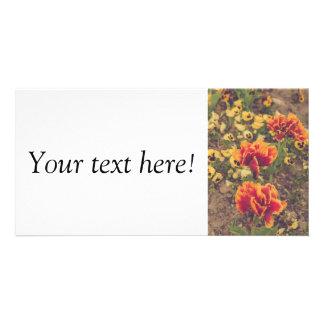 Tulips Photo Card Template