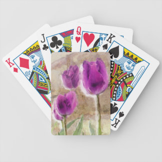 tulips playing cards