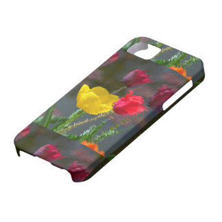 Tulips polychrome flowering, photo extrudes, barely there iPhone 5 case