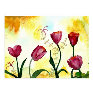 Tulips. Postcard