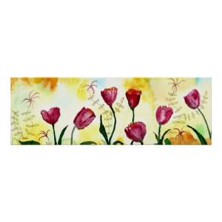 Tulips. Poster