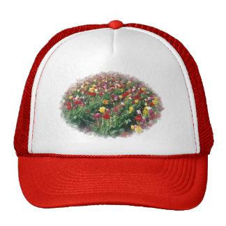 Tulips Red Ripple Hat