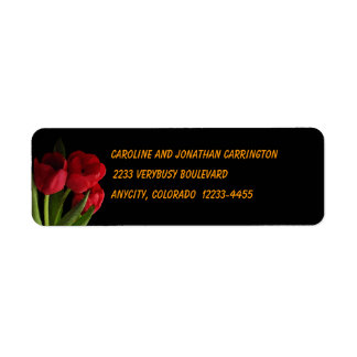 Tulips Return Address Label