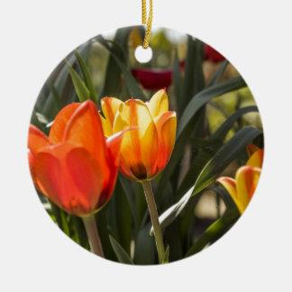 Tulips Round Ceramic Decoration