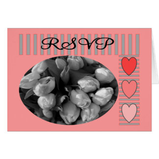 Tulips RSVP postage and Matching Cards