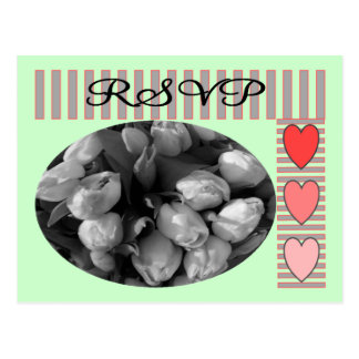 Tulips RSVP postage and Matching Cards Post Cards