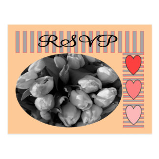 Tulips RSVP postage and Matching Cards Postcard