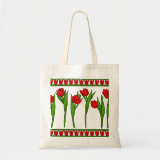 tulips shopper tote bag