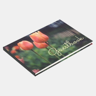 Tulips Spring Floral Tulip Garden Pretty Flowers Guest Book