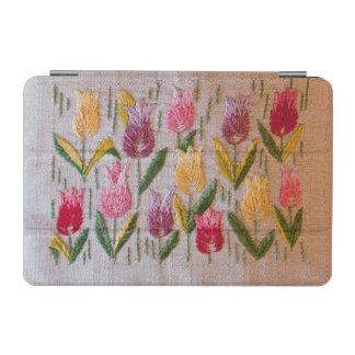Tulips vintage embroidery iPad mini cover