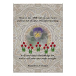 Tulips Viola ~ Proverbs 3:5-6 Posters
