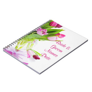 Tulips Wedding or Shower Guestbook Notebook