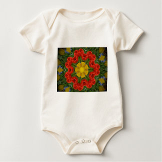 tulipsmandala baby bodysuit