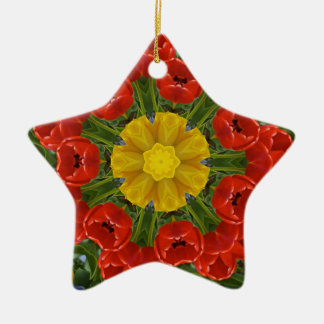 tulipsmandala christmas ornament