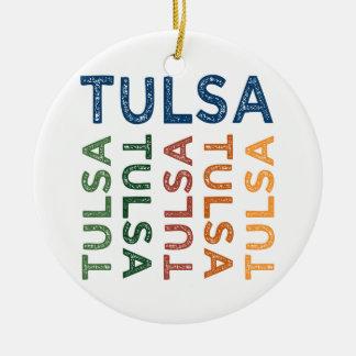 Tulsa Cute Colorful Christmas Ornament