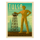 Tulsa, OK - Oil Capital Postcard