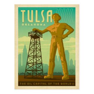 Tulsa, OK - Oil Capital Postcard